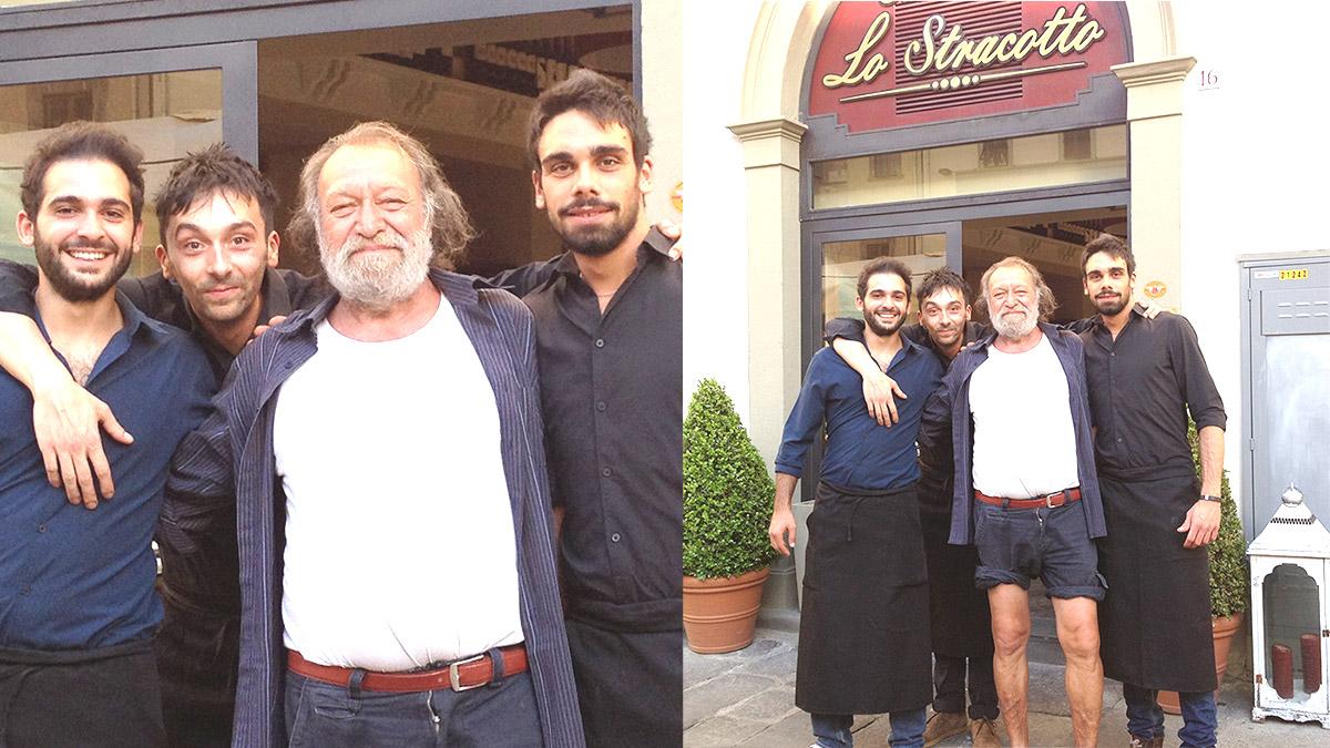 Carlo Monni alla Trattoria Toscana Lo Stracotto Firenze