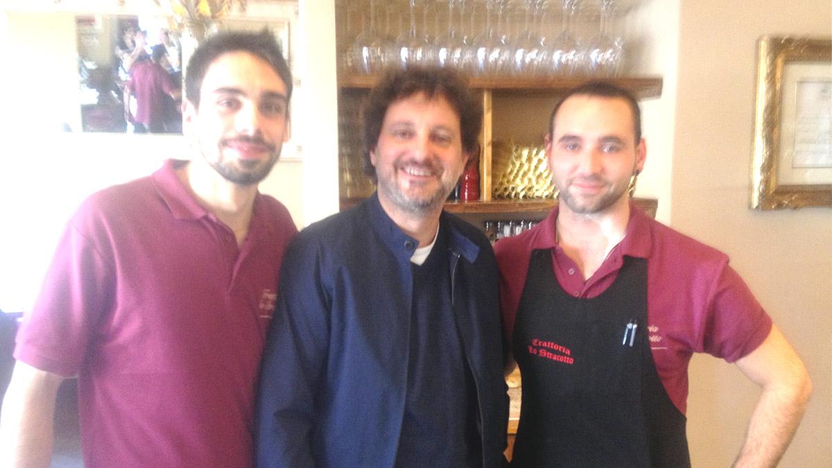 Pieraccioni a pranzo alla Trattoria Toscana Lo Stracotto – San Lorenzo Firenze